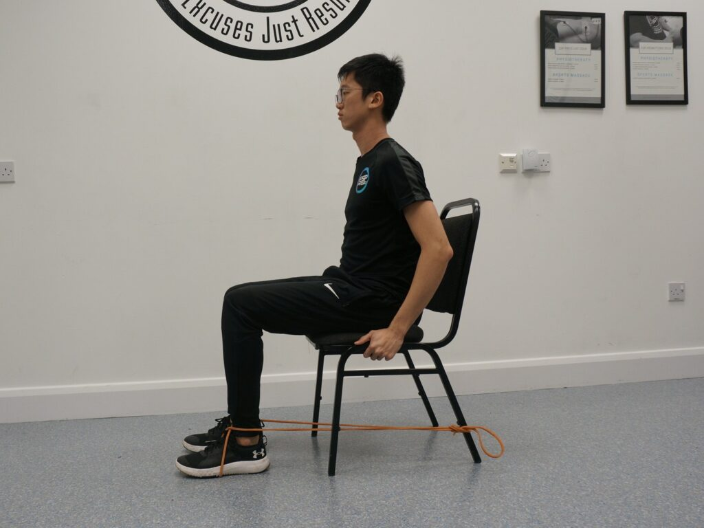 Banded knee extension